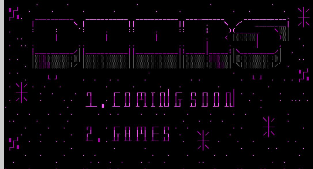 Outer Limit's Online Games Menu